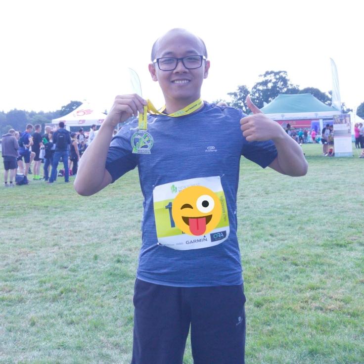 I've finished my first half-marathon ever.